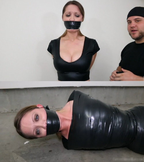 Tight bondage, domination and mummification for young girl BDSM Latex