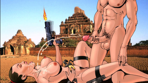 Toon Sex -Lara Croft and the golden ball.Full HD Cartoons