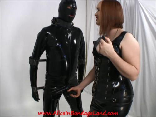 Metal Suspension Bondage – Scavengers girl – Rubber FemDom CBT