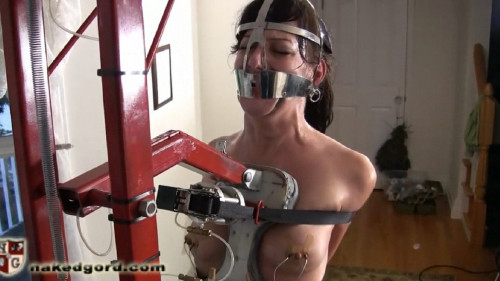 Constricted restraint bondage, spanking and soreness for exposed brunette hair FullHD 1080p