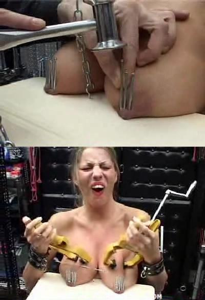 Nails and boobs - the best combination in BDSM