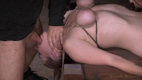 Bust Bella Rossi Bound To a Bed... BDSM
