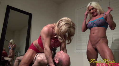Ashlee Chambers and Wild Kat - It's A Threesome. With A Twosome In Charge Female Muscle