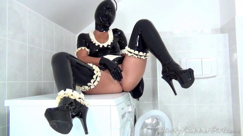 Kinky Rubber Maid, Finger, Dildo, Blow-Up Hood Part Two