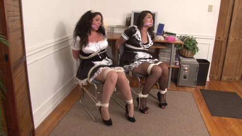 Bound French Maids - Kiki DAire and Scarlet Lov