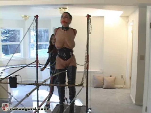 Kali Kane on the Pussy Lead Treadmill BDSM Latex