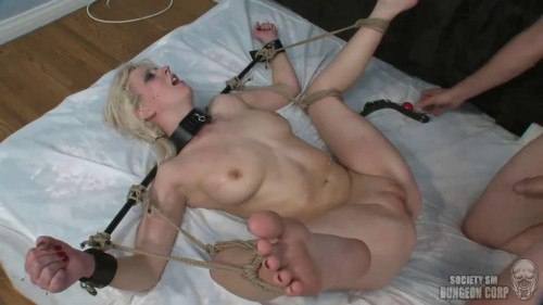 Tight bondage, spanking and torture for horny blonde part 2 HD 1080
