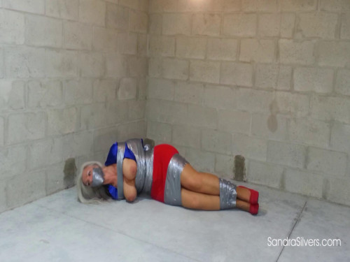 Double Duct Taped Damsels with Taped Hands & Fingers, Bound and Gagged