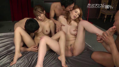 Maki Koizumi, Yui Misaki - Japanese Group Orgy With Anal Sex Uncensored Asian