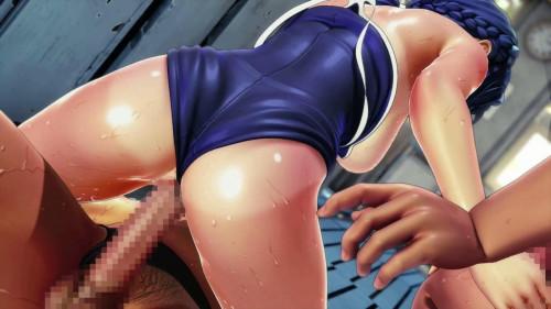 Panty pilferers and mermaid in school swimwear Anime and Hentai