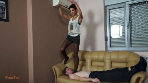 New Friends 4 Throat Standing - Mona - HD 720p Femdom and Strapon
