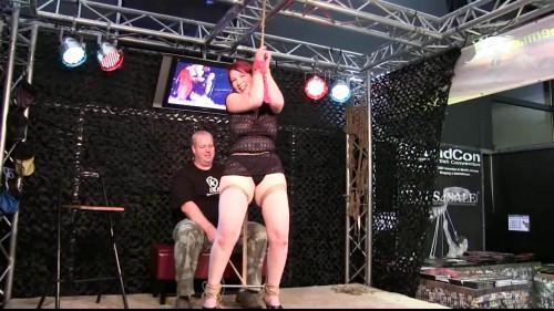 Her first ever Predicament Bondage ! - HD 720p BDSM