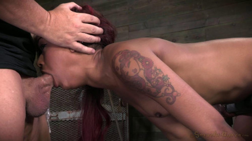 Ass out and throat ready, Skin Diamond bent over