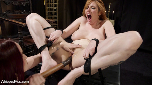 Bella Rossi Breaks in Redhead Lesbian Anal Slave BDSM