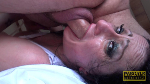 Babe gets dominated and ass fucked and swallows cum!