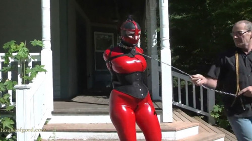 Super bondage, domination and spanking for sexy girl in latex HD 1080p BDSM Latex