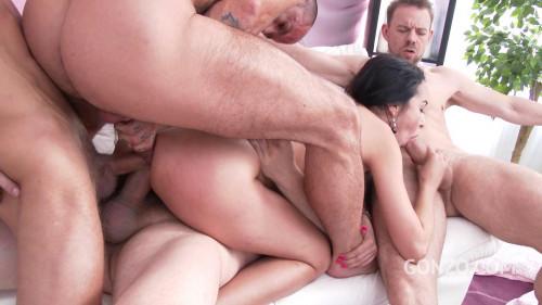 Francys Belle loves tremendous gangbang with triple penetration Orgies