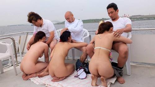 Nanami aibu, sae yukino and aira masaki punished on a yacht