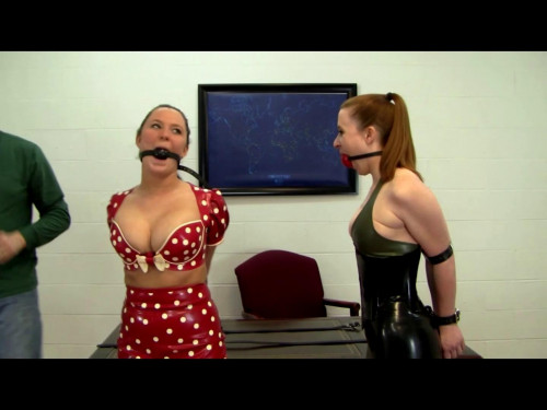 Leanna & Serene - Hobbled Latex Tickle Battle
