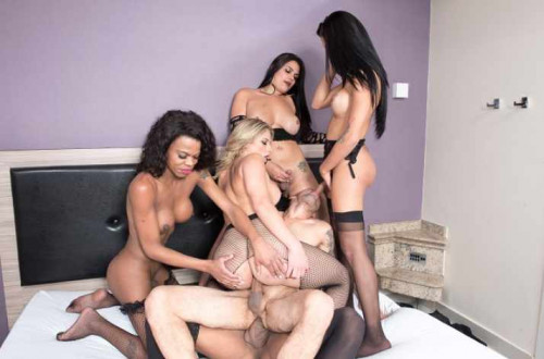 Perfect Gangbang With Beauty Shemales