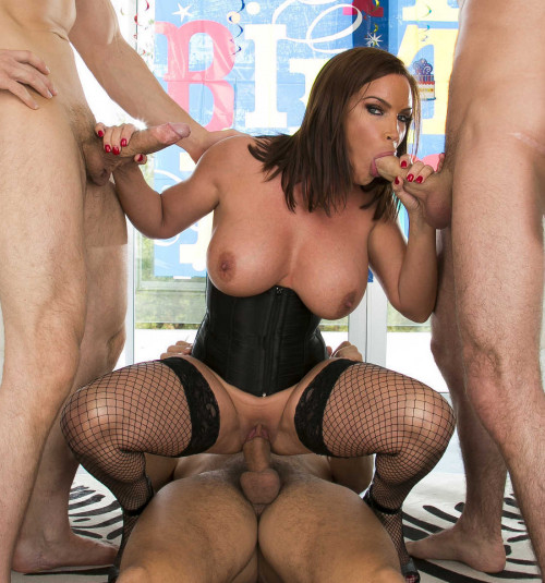 Sexy Milf Can Handle The Triple Cock Stuffing In All Her Holes