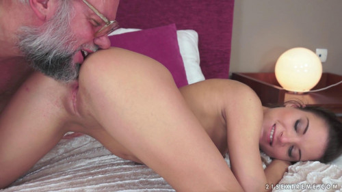 Youngling Anita Keeps Grandpa In Shape Old and Young