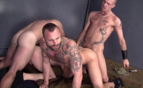 Brutal Men Threesome Fuck