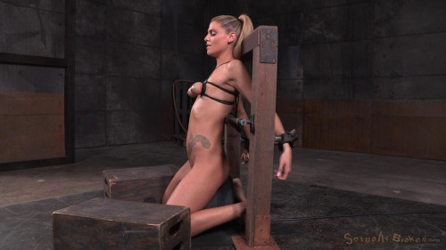 To sybian in breast bondage and facefucked-rough bdsm porn