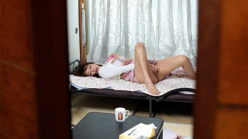 Horny juri kitahara was being watched during the time that masturbating