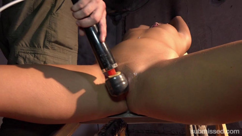 Daphne Klyde Ballgagged And Penetrated With A Big Dildo BDSM