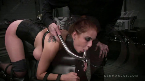 Taut restraint bondage, spanking and castigation for very lascivious slavegirl FullHD 1080p