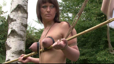 Outdoor Breast Bondage for Yvette - part 1