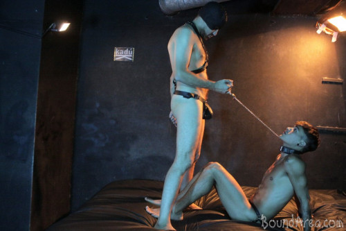 BoundArea - Humiliating Puppy Play Ends with Creamy Gay Anal