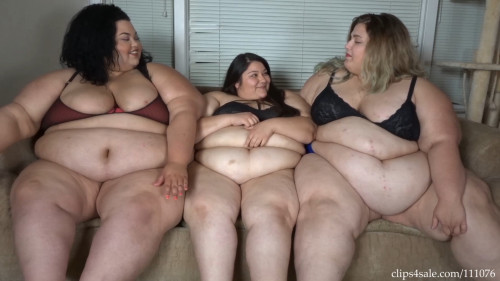 Ssbbw Brianna and Jae 3 Jiggly Fats On the Couch