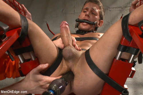 Alexander Gustavo edged in prison by two perverts Gay BDSM
