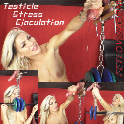 Testicle Stress Ejaculation Handjob