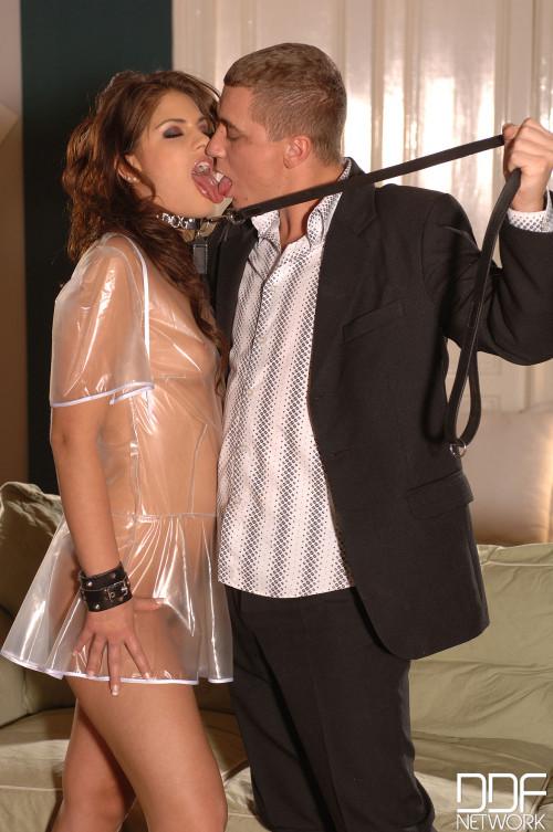 Steve q And Valentina Rossini - Slaving For Her Masters Meat Bone! BDSM