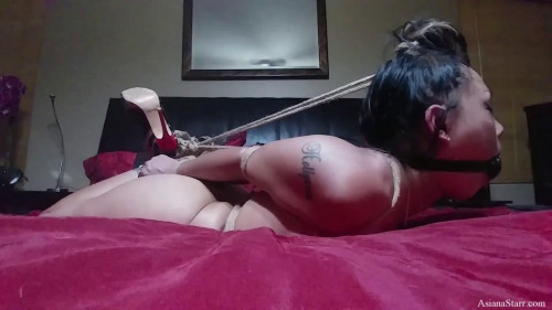 Hogtied On The Bed While Martin Showers - Full HD 1080p