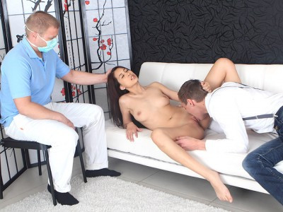 Lena's gynecologist watches her have sex in order to diagnose her correctly Public sex