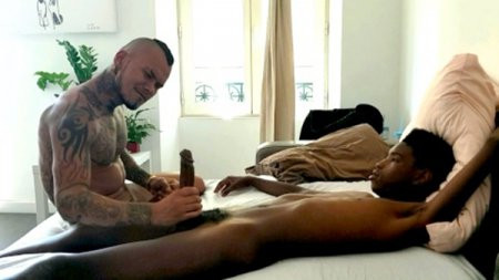 BravoFucker - 24cm of young black meat for Pablos muscled ass
