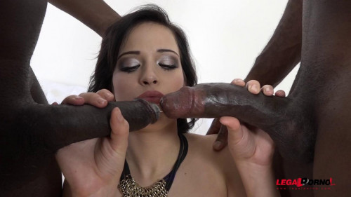 Ria Sunn gets both holes filled. Interracial DP and DAP