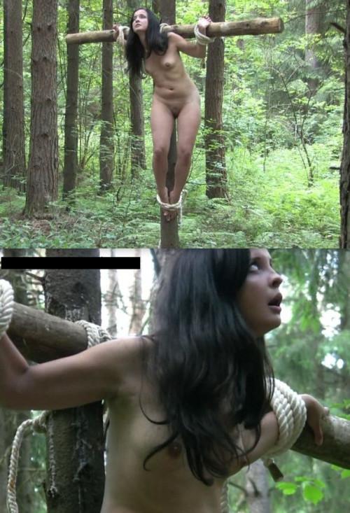 CruxDreams - Sveta and Tessa Champagne Crucifixion