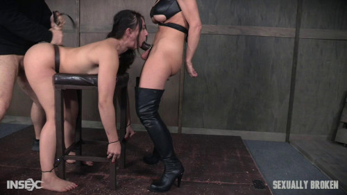Mandy Muse and her amazing booty gets abused with cock, pussy and ass smothering! Face fuckings! BDSM