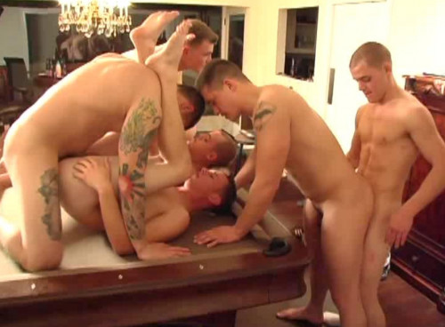 Military Group Sex Party