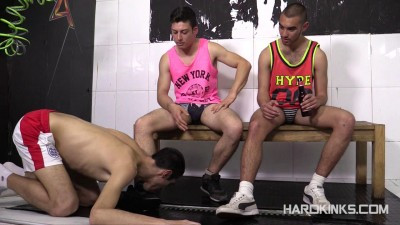 Hard Kinks - Str8 Bullies vs Nerd (Abel Bunker, Eloy Fox) Gay BDSM