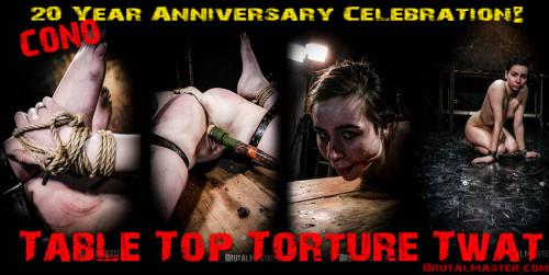 BrutalMaster - Cono Table Top Tortured Twat BDSM
