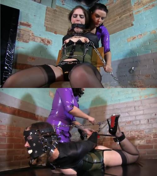 Super bondage, suspension, torture and hogtie for young bitch