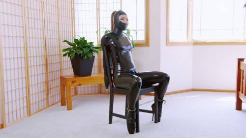 Chair Bound Gwen BDSM Latex