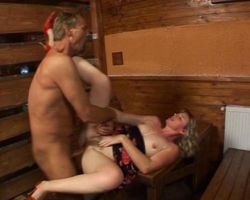 Getting wet in a sauna MILF Sex
