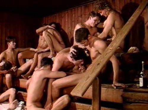 Blue Guys In Orgy